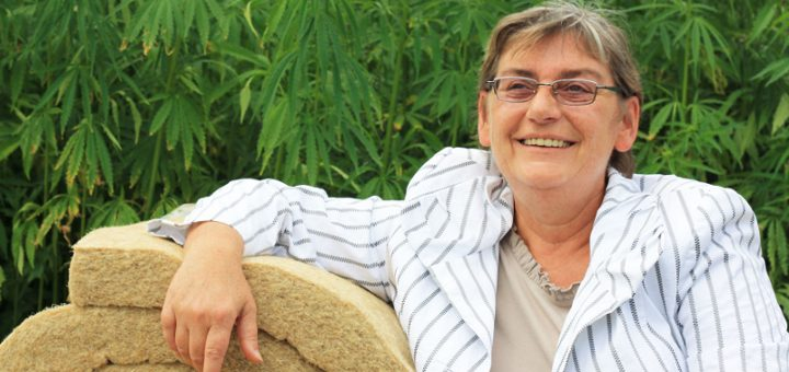 Carmen Hock-Heyl, founder and CEO of the hemp insulation company Hock (Photo: Cannabis Magazine)