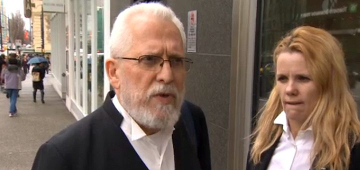 Lawyer John Conroy and counsel outside Federal Court on Mar. 18 (Photo: CBC)
