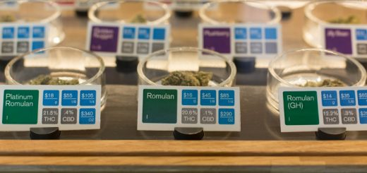 Cannabis flowers on display at a California dispensary. (Photo: Sonya Yruel/Drug Policy Alliance)