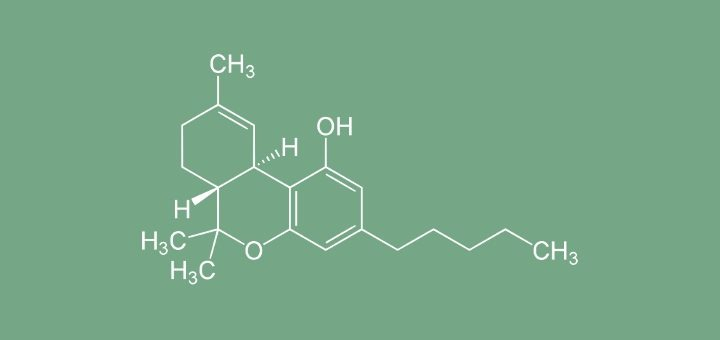 Chemical structure of tetrahydrocannabinol. (Photo:Wikimedia Commons)