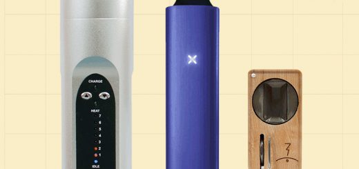 Three portable vaporizers: Arizer Solo (left to right), Ploom Pax, Magic-Flight Launch Box (Photo: Vape Nation)