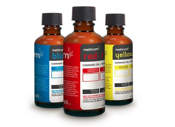 Licensed producer Mettrum offers three different cannabis oil products
