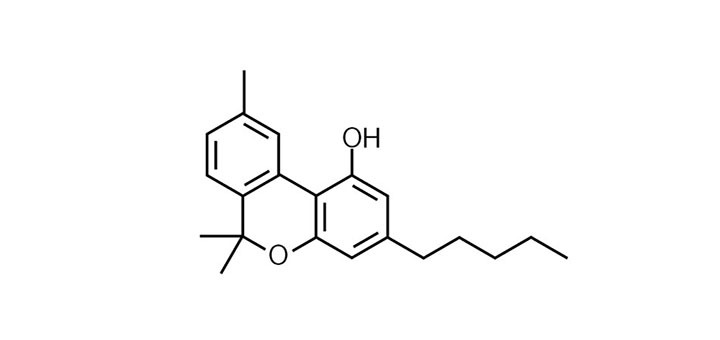 Chemical structure of CBN (cannabinol)