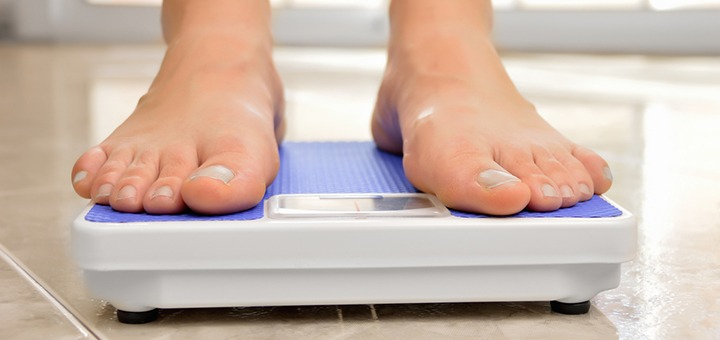 Lower weight and BMI
