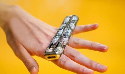 Double Barrel's $100,000 Diamond-Encrusted Vape