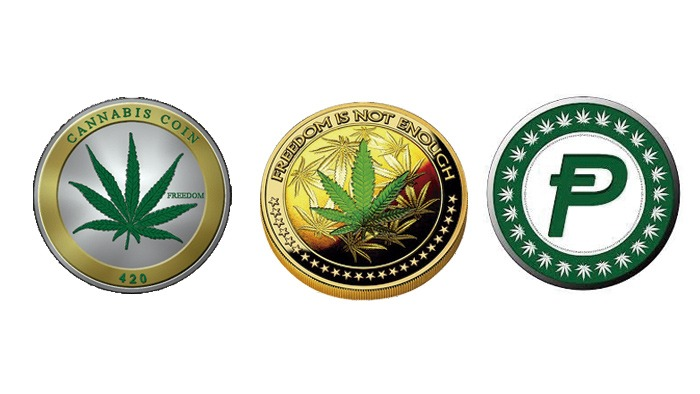 the most popular cannabis cryptocurrencies are Cannabis Coin, DopeCoin, and PotCoin